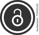 lock icon . dark circle sign...   Shutterstock .eps vector #719391142
