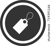 tag icon . dark circle sign...   Shutterstock .eps vector #719391166