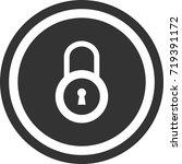 lock icon . dark circle sign...   Shutterstock .eps vector #719391172