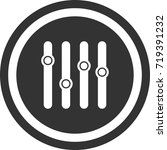 equalizer icon . dark circle...   Shutterstock .eps vector #719391232