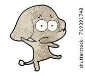 cartoon unsure elephant | Shutterstock .eps vector #719391748