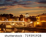 the night view of rome from the ... | Shutterstock . vector #719391928