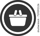 basket icon . dark circle sign...   Shutterstock .eps vector #719392126