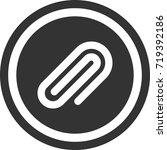 clip icon . dark circle sign...   Shutterstock .eps vector #719392186