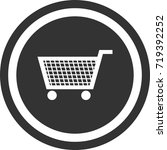 trolley icon . dark circle sign ...   Shutterstock .eps vector #719392252