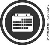 calendar icon . dark circle...   Shutterstock .eps vector #719392342