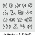 human resources management... | Shutterstock .eps vector #719394625