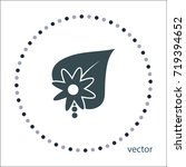 flower sign  vector icon   Shutterstock .eps vector #719394652