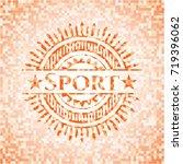 sport orange mosaic emblem | Shutterstock .eps vector #719396062