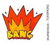 cartoon bang sign   Shutterstock .eps vector #719399392