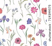 seamless pattern with pink... | Shutterstock .eps vector #719399575