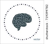 brain icon  vector design... | Shutterstock .eps vector #719399782