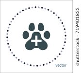 veterinary care sign  vector...   Shutterstock .eps vector #719401822