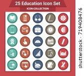 education icons set | Shutterstock .eps vector #719408476