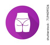 buttocks flat design long... | Shutterstock .eps vector #719409526