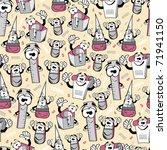 funny cartoon school objects  ... | Shutterstock .eps vector #71941150
