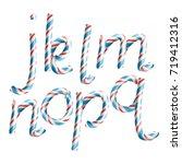 letters j  k  l  m  n  o  p  q. ... | Shutterstock .eps vector #719412316