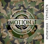 emotional on camo pattern | Shutterstock .eps vector #719416276