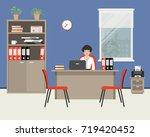 workplace of an office worker.... | Shutterstock .eps vector #719420452