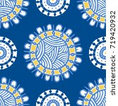 seamless pattern with ethnic... | Shutterstock .eps vector #719420932