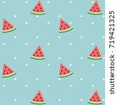 pattern of sweet juicy pieces... | Shutterstock .eps vector #719421325