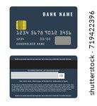 realistic credit card with a...   Shutterstock .eps vector #719422396