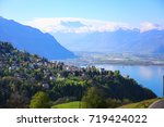 golden pass line along lake of... | Shutterstock . vector #719424022