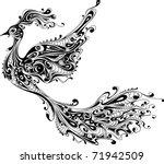 decorative bird isolated on... | Shutterstock .eps vector #71942509