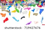 separate clothing fall from a... | Shutterstock . vector #719427676