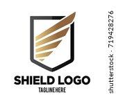 elegant shield shape with... | Shutterstock .eps vector #719428276