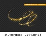 magic light effect. stardust... | Shutterstock .eps vector #719438485