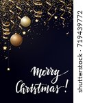 vector christmas background... | Shutterstock .eps vector #719439772