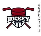 red shield hockey sport logo | Shutterstock .eps vector #719441506