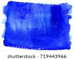 abstract blue watercolor...   Shutterstock . vector #719443966