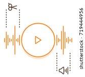 edit audio concept. simple... | Shutterstock .eps vector #719444956