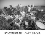 aerial view of vancouver... | Shutterstock . vector #719445736