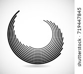 lines in circle form . spiral... | Shutterstock .eps vector #719447845