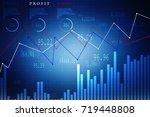 2d rendering stock market... | Shutterstock . vector #719448808