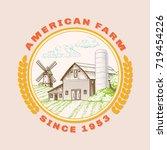 american farm barn for... | Shutterstock .eps vector #719454226