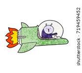 cartoon alien in spaceship