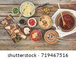 traditional italian vegetarian... | Shutterstock . vector #719467516