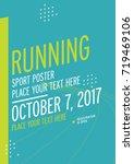 run championship poster design... | Shutterstock .eps vector #719469106