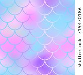 girlish fish scale pattern with ... | Shutterstock .eps vector #719470186