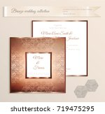 luxury bronze shiny wedding... | Shutterstock .eps vector #719475295