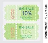ticket templates. trendy... | Shutterstock .eps vector #719476438