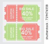 ticket templates. trendy... | Shutterstock .eps vector #719476558