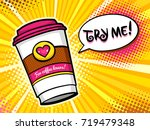 pop art background with bright... | Shutterstock .eps vector #719479348