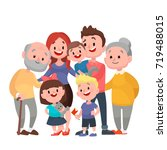 happy family. father  mother ... | Shutterstock .eps vector #719488015