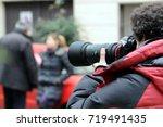 paparazzo   paparazzi   man... | Shutterstock . vector #719491435