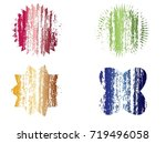 grunge post stamps.vector... | Shutterstock .eps vector #719496058
